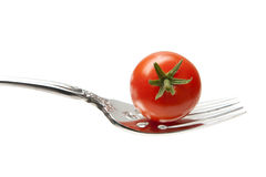 Fork with Cherry Tomato Stock Images