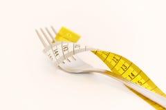 Fork con medida Imagen de archivo