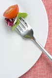 Fork crave Fresh vegetables Stock Photo