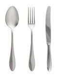 Fork, cuchara y cuchillo Imagen de archivo libre de regalías