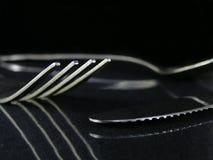 Fork, cuchara, y cuchillo Imagen de archivo libre de regalías