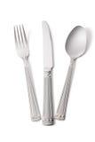 Fork, cuchillo y cuchara Imagen de archivo libre de regalías