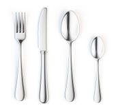 Fork, cuchillo y cuchara stock de ilustración