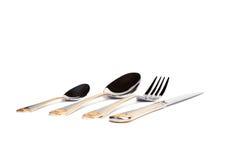 Fork, cuchillo y cuchara Fotografía de archivo libre de regalías