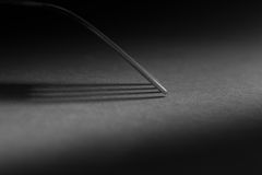 Fork in the dark. Royalty Free Stock Photos