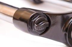 Fork de la suspensión de la bici de montaña Imagen de archivo