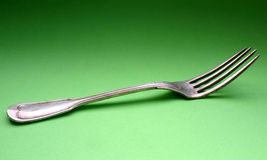 Fork de plata vieja #2 Imagenes de archivo