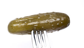 Fork and Dill Pickle Royalty Free Stock Photo