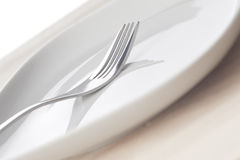 Fork and dish Stock Photo