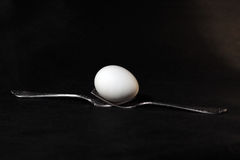 Fork and egg Stock Photo