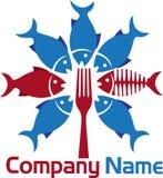 Fork fish logo Stock Images