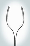 Fork. Isolated fork seems like a glass royalty free stock photos