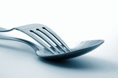 Fork in the kitchen Stock Photos