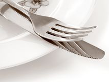 Fork and knife 1 stock photography