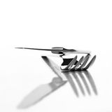 Fork and knife. On white background Royalty Free Stock Photo
