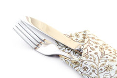Fork and knife. Fork and knife isolated on white background royalty free stock photos