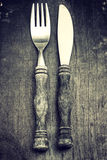 Fork and knife Royalty Free Stock Photo