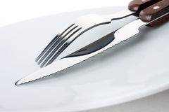 Fork and knife Stock Images