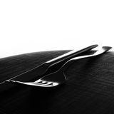 Fork and knife background Royalty Free Stock Image