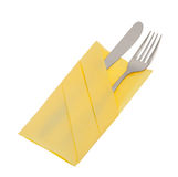 Fork and knife with clipping path Royalty Free Stock Photography