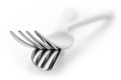 Fork and knife close-up Royalty Free Stock Photos
