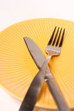 Fork and Knife, crossed Royalty Free Stock Photography
