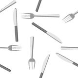 Fork and Knife. Forks and knifes background for food-related sites or menu card royalty free illustration