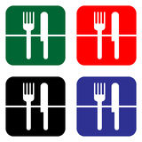 Fork and knife icon or sign, EPS10 Royalty Free Stock Image
