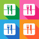 Fork knife icon vector EPS10 Royalty Free Stock Photography