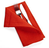 Fork knife napkin service Royalty Free Stock Images
