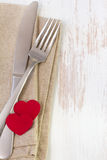 Fork, knife and napkin Royalty Free Stock Image
