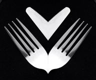 Fork and knife. New delusions and holders of royalty free stock image