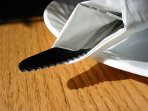 Fork knife plate Royalty Free Stock Photos