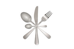 Fork, knife and spoon Royalty Free Stock Photos