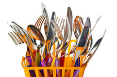 Fork,knife and spoon Stock Photo