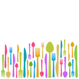 Fork Knife Spoon Abstract Colorful Background Royalty Free Stock Images