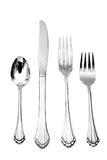 fork knife spoon dinner silver Royalty Free Stock Image