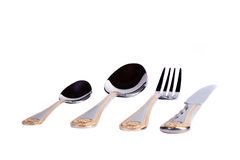 Fork, knife and spoon. Set Royalty Free Stock Photos