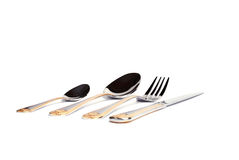 Fork, knife and spoon. Set Royalty Free Stock Photography