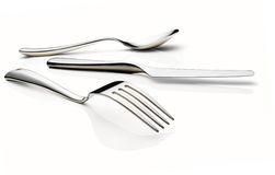 Fork, knife, and spoon Stock Photography