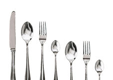 Fork ,knife and spoon on a white Royalty Free Stock Images