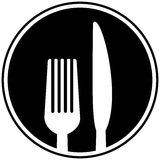 Fork and Knife Symbol Royalty Free Stock Image