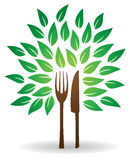 Fork Knife Tree Logo Royalty Free Stock Photography