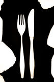 Fork and knive, black and white Stock Image