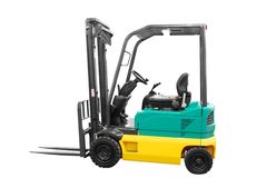 Fork-lift isolated Royalty Free Stock Photography