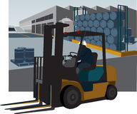 Fork lift Stock Photo