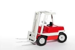 Fork lift toy car Royalty Free Stock Photography