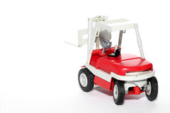 Fork lift toy car #3 Royalty Free Stock Photos
