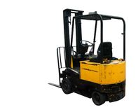 Fork lift truck. Used in warehouse Stock Photo