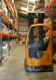 Fork Lift Truck. In Warehouse royalty free stock photo
